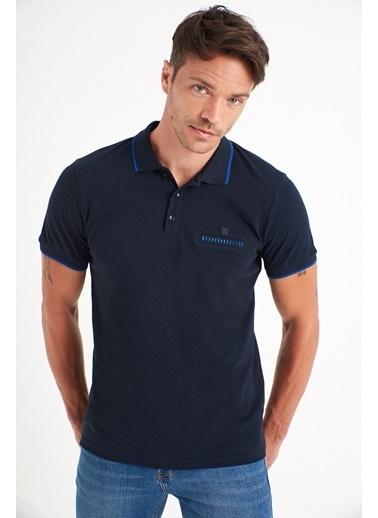 Avva Erkek  Polo Yaka Düz Cepli Tişört A01S1273 Beyaz